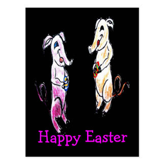 Easter Elephants Postcard