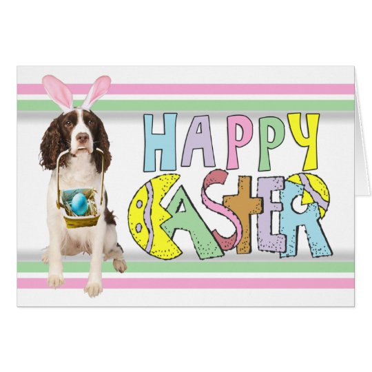 Easter English Springer Spaniel Card