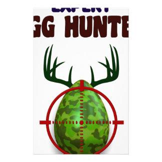 Easter expert Hunter, egg deer target shooter, fun Stationery