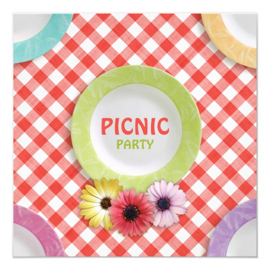 Easter Family Reunion Picnic Party Invitation