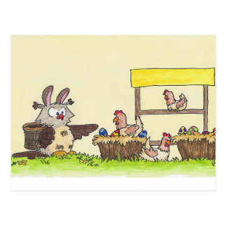 EASTER FARM postcard by Nicole Janes