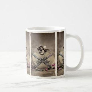 Easter fishing rod with more easter egg vintage coffee mug