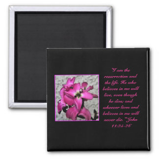 Easter floral bible quote magnet