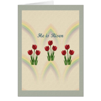 Easter Floral Tulips Card