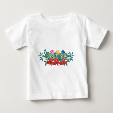 Professional Business Easter, Flower, Eggs, Watercolor Baby T-Shirt