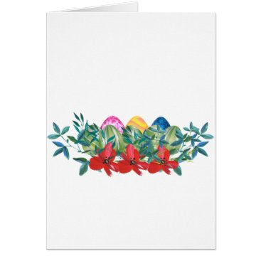 Professional Business Easter, Flower, Eggs, Watercolor Card