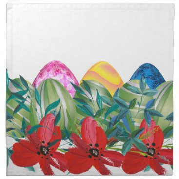 Professional Business Easter, Flower, Eggs, Watercolor Cloth Napkin