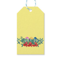 Easter, Flower, Eggs, Watercolor Gift Tags