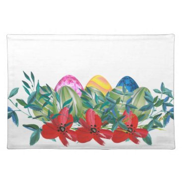 Professional Business Easter, Flower, Eggs, Watercolor Placemat