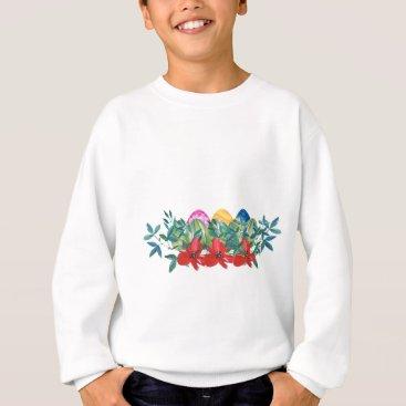Professional Business Easter, Flower, Eggs, Watercolor Sweatshirt