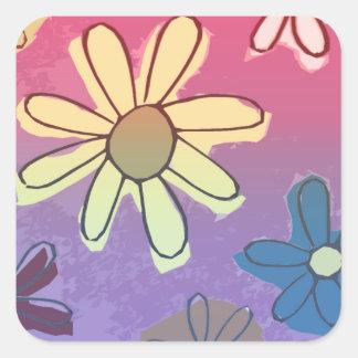Easter Flower Shine Square Sticker