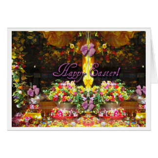 Easter Flowers Candy In Store Window Card