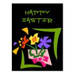 Easter Flowers Customisable Postcard