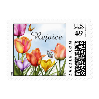 Easter Flowers Postage Stamps