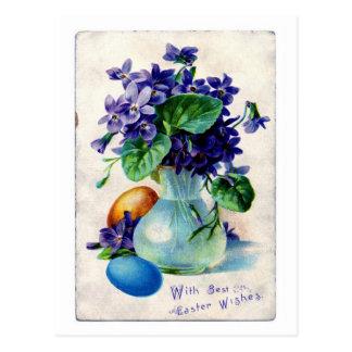 Easter flowers postcard