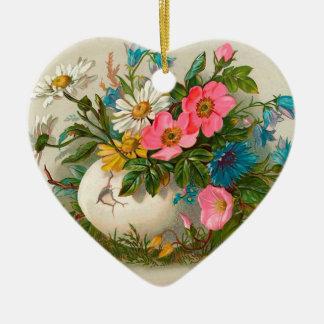 Easter Flowers Vintage Floral Art Christmas Ornaments