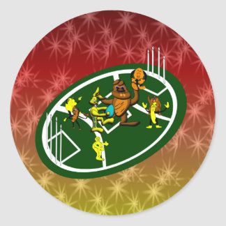 Easter Footy Game Classic Round Sticker