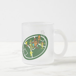 Easter Footy Game Frosted Glass Coffee Mug