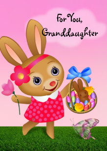 Granddaughter easter gifts on zazzle easter for granddaughter holiday card negle Images