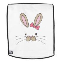 Easter for kids Bunny Face Bunny Kids Girls Backpack