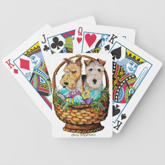 Easter Fox Terriers Bicycle Playing Cards