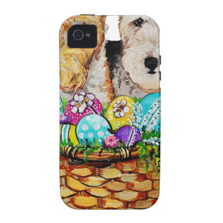 Easter Fox Terriers Case-Mate iPhone 4 Covers