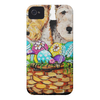 Easter Fox Terriers iPhone 4 Case-Mate Cases