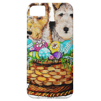 Easter Fox Terriers iPhone SE/5/5s Case