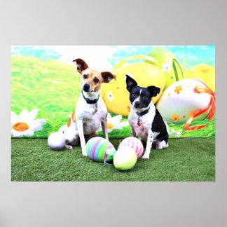 Easter - Fox Terriers - Sadie and Baboo Print