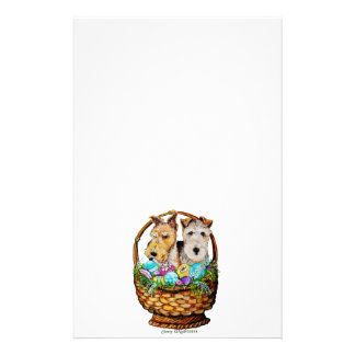 Easter Fox Terriers Stationery