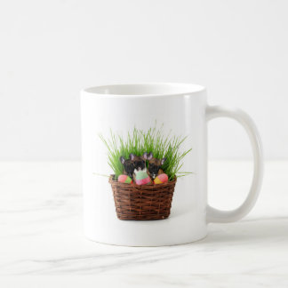 Easter french bulldog puppies classic white coffee mug