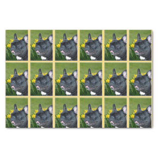 Easter French bulldog tissue paper
