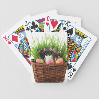 Easter French Bulldogs Bicycle Playing Cards