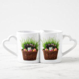 Easter French Bulldogs Coffee Mug Set