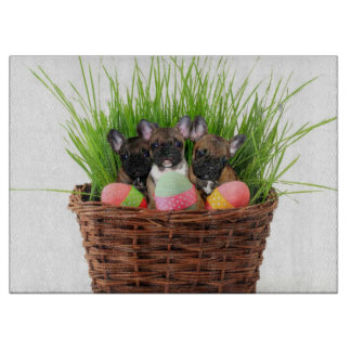 Easter French Bulldogs Cutting Boards