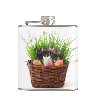 Easter French Bulldogs Flasks