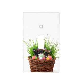 Easter French Bulldogs Switch Plate Cover