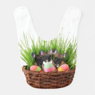 Easter French Bulldogs Baby Bib