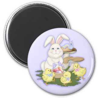 Easter Friends 2 Inch Round Magnet