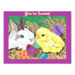 Easter Friends customizable invitation