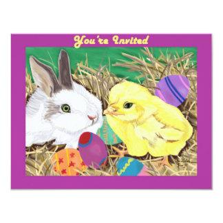 Easter Friends customizable invitation