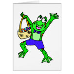 Easter Frog Greeting Card
