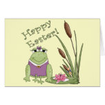 Easter Frog T shirts and Easter Gifts Greeting Card