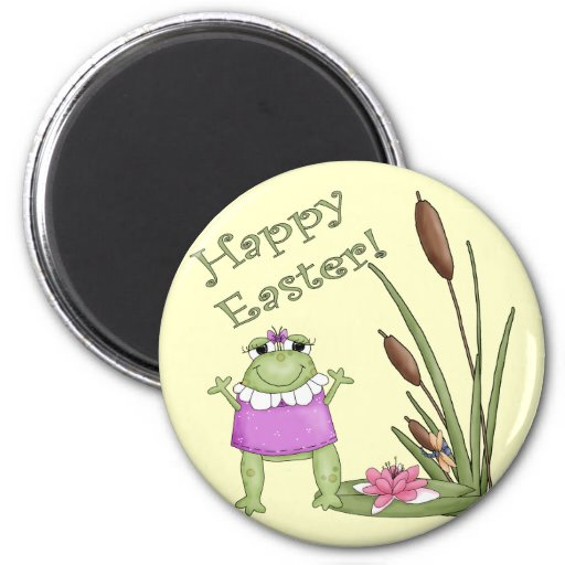 Easter Frog T shirts and Easter Gifts Fridge Magnets