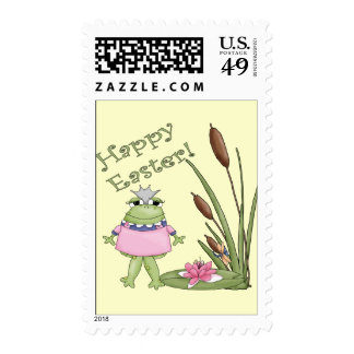 Easter Frog T shirts and Easter Gifts Postage Stamp