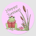 Easter Frog T shirts and Easter Gifts Round Sticker