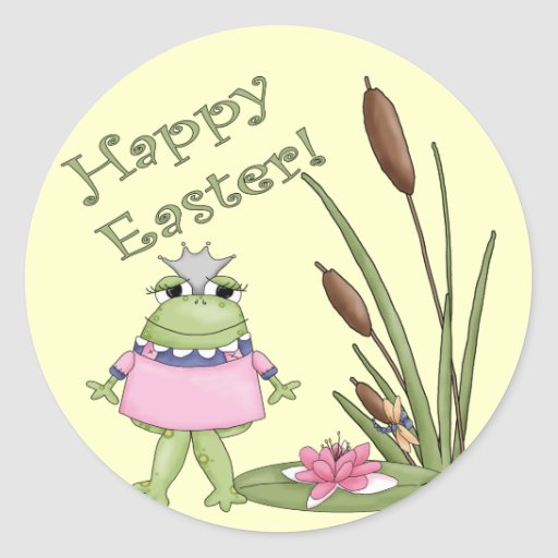 Easter Frog T shirts and Easter Gifts Classic Round Sticker