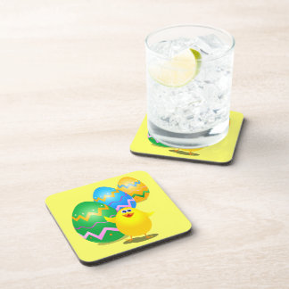 Easter funny chick, coaster