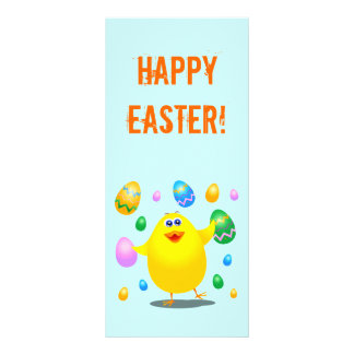 Easter funny chick, rack card