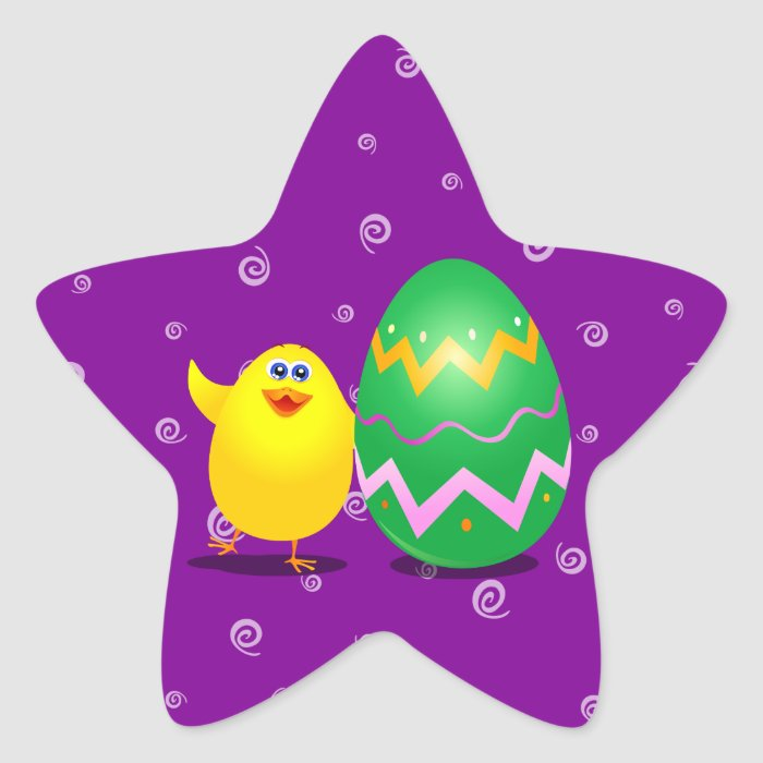 Easter funny chick, sticker